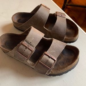 Birkenstock oil rubbed bronze soft foot bed 37